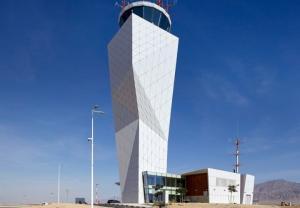 Ngắm sân bay Ramon kiểu dáng lạ trên sa mạc Israel