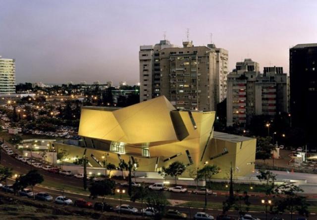 Trung tâm hội nghị khối đa giác xếp chồng