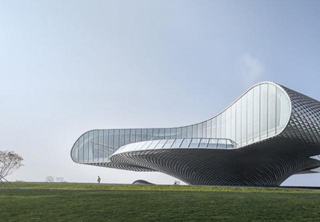 Bảo tàng nghệ thuật có thiết kế gợn sóng ở Trung Quốc