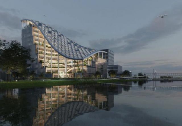 Tòa nhà văn phòng được thiết kế như