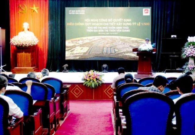Công bố điều chỉnh quy hoạch khu đô thị sinh thái Văn Giang