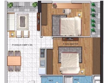 Bán cắt lỗ chung cư Hanhud Hoàng Quốc Việt- Căn 66.5m2( chỉ 25.5 triệu/m2)