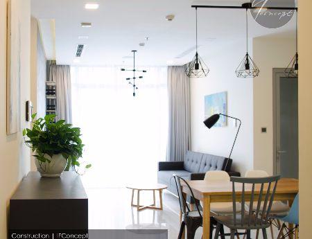 Cho thuê căn hộ Vinhomes cao cấp - 1PN- Full nội thất cao cấp