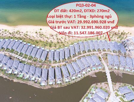 Đầu tư biệt thự biển nghỉ dưỡng dành cho Việt kiều Vinpearl Phú Quốc PQ3 02-04 vốn 11tỷ. 0936885578