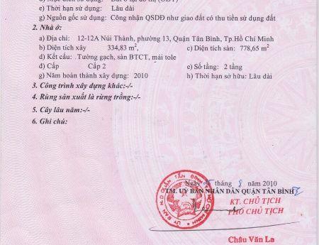 Bán đất Ngay trung tâm thành phố HCM . Quận Tân Bình