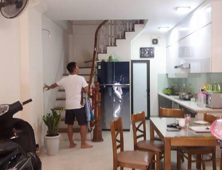 Cần bán nhà 45m2 x 5 tầng x mặt tiền 4m x 3.9 ty, Trần Nguyên Đán,Định Công.