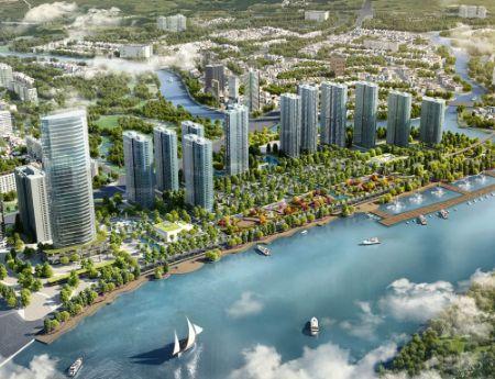 Cần bán gấp căn hộ Vinhomes Ba Son, view sông, lầu cao, DT 110m2, 18.1 tỷ TL bao thuế phí, nội thất
